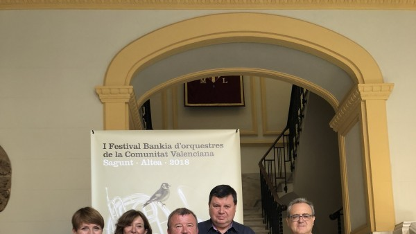 L'Institut Valencià de Cultura, Bankia i la FSMCV presenten a Sagunt el I Festival d'Orquestres Bankia de la Comunitat Valenciana