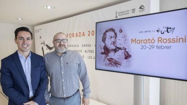 Les Arts celebra el cumpleaños de Rossini con un maratón de ópera, conciertos, recitales, actividades gastronómicas, música DJ, coloquios y cine