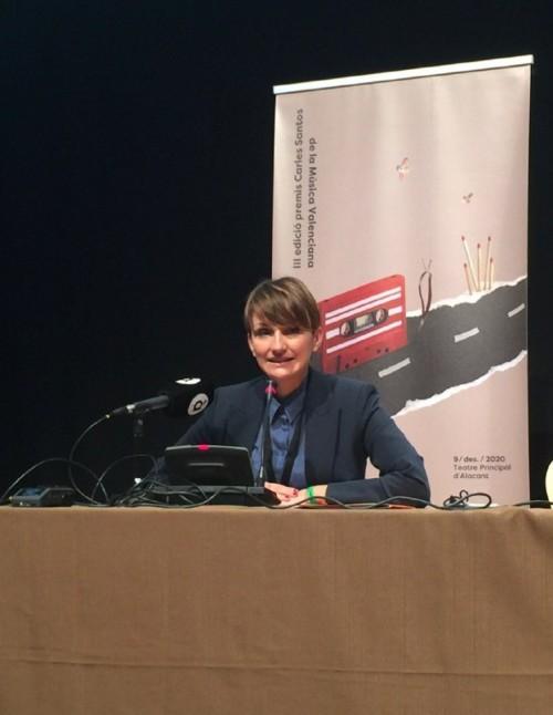 La directora adjunta de Música i Cultura Popular de l'IVC, Marga Landete, ha donat a conéixer la llista de nominacions en el marc de la fira Trovam, a Castelló