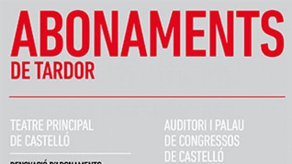 ABONAMENTS DE TARDOR