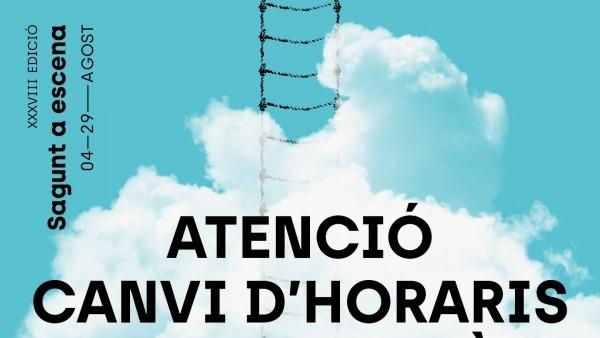 ATECIÓN CAMBIO DE HORARIOS