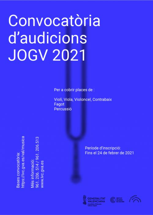 Audiciones JOGV 2021