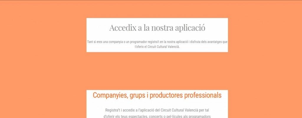 Inauguramos aplicación web del Circuit Cultural