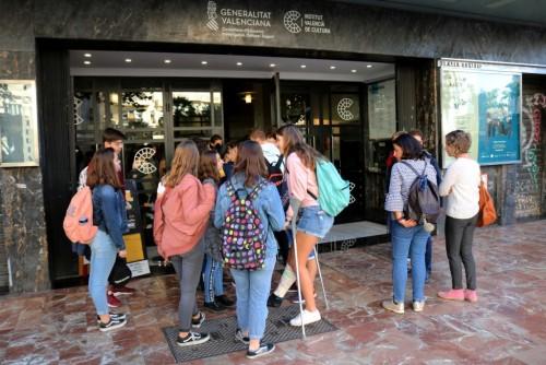 Los alumnos en el Teatro Rialto