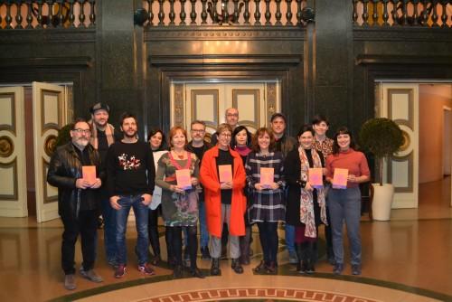 Els autors de la 1ª  y 2ª edició del Laboratori de Dramatúrgia INSULA DRAMATARIA JOSEP LLUÍS SIRERA
