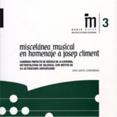 Miscelánea musical en homenaje a Josep Climent