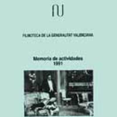 Memoria anual de la filmoteca, 1991