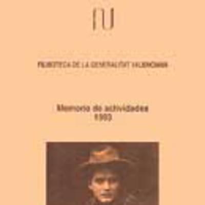 Memoria anual de la filmoteca, 1993