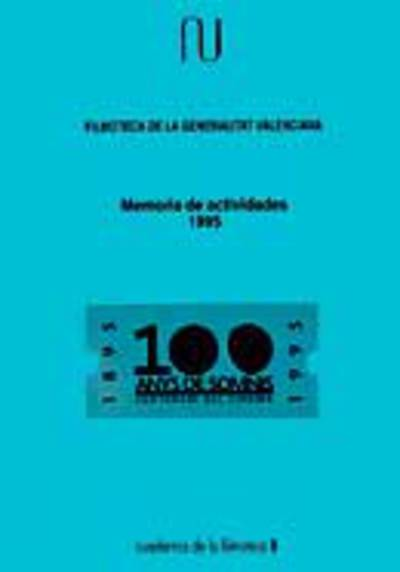 Memoria anual de la filmoteca, 1995