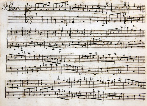 Manuscrit d'una sonata de Rafael Anglés (1730-1816) al fons José Iturbi