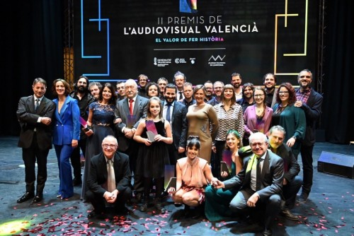 Guanyadors dels II Premis de l'Audiovisual Valencià