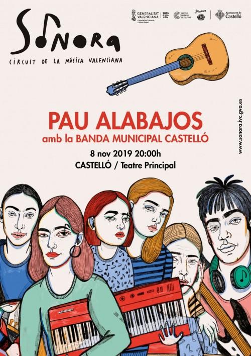 Cartell del concert de Pau Alabajos